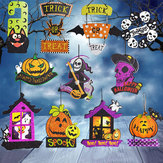 Halloween Spoof Hanging Decorations Spilla Ghost Cranio Witch Porta Hanger Forniture di Halloween
