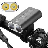 XANES® 600LM Double T6 LED Bicycle Lights Aluminum Alloy Two-head Headlamp 360° Rotating USB Charging Bike Front Headlamp