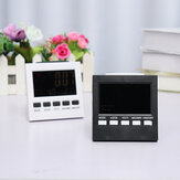 LED Digital Alarm Clock Temperature Humidity Weather Color Display With Backlit
