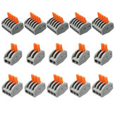Excellway® ET25 15Pcs 2/3/5 Pins Spring Terminals Block Electric Cable Wire Connectors