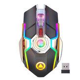 YINDIAO A5 Souris Rechargeable Sans Fil 2.4GHz Optique Silent Game Mouse Pour Ordinateur Portable PC Ordinateur