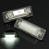 ペアエラーフリー18 LEDナンバープレートバルブベンツW210 4Dセダンフェイスリフト