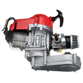 49cc Engine 2-Stroke Pull Start com transmissão para Mini Moto Dirt Bike Red