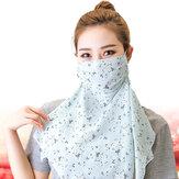 Frauen Mehrzweck-Blumendruckmasken Nackenschutzabdeckung Gesicht Sonnenschutz Ohrschalungsmaske