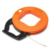 45m/60m/75mcabo de fibra de vidro extrator de fita de carretel de canalização de peixe Rodder puxando extrator