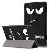 Couverture de cas de tablette d'impression triple pour Lenovo Tablet E10 Tab - Big Eyes