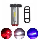 Lumière rechargeable de bicyclette de feu arrière de feu arrière de vélo d'aluminium de l'ÉPI LED de bicyclette de sécurité