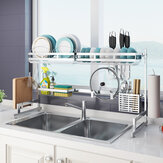 Stainless Steel Kitchen Dish Drying Rack Drainer Storage Shelf Utensil Holder Plate Dish Cupboard Storage Rack