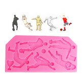 Food Grade Silicone Mold Cake DIY Chocalate Cookies Ice Tray Narzędzie do pieczenia Football Player Shape