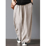 Women High Elastic Waist Solid Wide Leg Pants