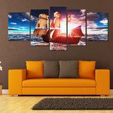 5SZTUKUframedSunsetModernArt Obrazy Olejne na Płótnie Zdjęcia Drukuj Home Dekoracje Ścienne