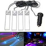 12V 4 in 1 LED Auto Interior Floor Dash Decorative Atmosphere Light Lamp