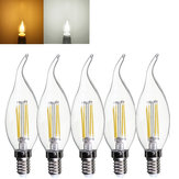 E14 4W Pure/Warm White Edison Filament LED COB Flame Lamp 220-240V