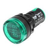 Machifit 22mm رقمي AC الفولتميتر AC 50-500V مقياس الجهد الكهربائي رقمي عرض مؤشر أخضر