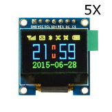 5Pcs 0.95 Inch 7pin Full Color 65K Color SSD1331 OLED Display SPI Geekcreit for Arduino - products that work with official Arduino boards
