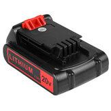 Paquete de 2 2.5Ah 20 voltios Batería para Black and Decker 20V Litio Batería LBXR20 LBXR2520 LBXR2020-OPE LBX20 LBXR20B-2 LB2X4020 LBX4020 LB20 LST220