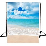 5x7Ft Vinyl Beach Blue Sky Summer Studio Photography Background Photo Backdrop Props