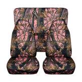 Universal delantero + camuflaje trasero Diseño Coche Fundas de asiento Juegos completos Proteger Mat