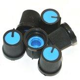 50Pcs Blue Пластик для вращающегося конуса Потенциометр Отверстие 6 мм Ручка