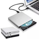 Unidade óptica externa USB 2.0 Gravador de CD DVD DVD-RW Reprodutor de CD / DVD-ROM Reescritor Transferência de dados para componentes de computador laptop PC