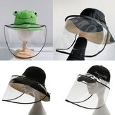 PVC Breathable Splash-proof Dustproof Full Face Mask Anti-spit Face Shield For All Hats Fishman Hats