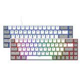 Flesports F12 68 kláves mechanická klávesnice bluetooth bezdrátová / Type-C kabelová duální režim s možností výměny za provozu PBT klíčenky RGB herní klávesnice
