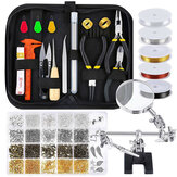 Mixed Jewelry Making Supplies Tools Kit Set Wires Beads 1072/1126/1497/2028Pcs