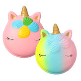 Fantasy Animal Squishy Unicorn Macaron 9CM Jumbo Toys Gift Collection With Packaging