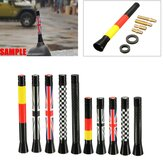 7.7cm/10.7cm Union Jack UK GER Flag Carbon Fiber Grid Car Antenna