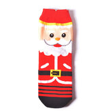 Womens Warm Cartoon Christmas Short Socks