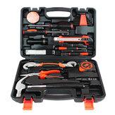 9/25/82/100 Pcs Conjunto de ferramentas de reparo doméstico Hammer Conjunto de ferramentas manuais de régua com caixa de ferramentas de plástico