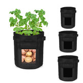 4/7/10 Gallon Potato Planting Bag Pot Planter Vegetable Container Garden Grow Bag Seedling Pot