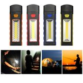 Super Bright Adjustable Magnetic COB LED Work Light Battery Supply Camping Tent Lantern With Hook