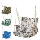 Outdoor Hanging Chair Swinging Hammock Thicken Rope Swing Seat For Home Indoor Outdoor Backyard Garden