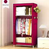 Double Layers Simple Wardrobe Organize Storage Cloth Wardrobe Student Dormitory Home Supplies