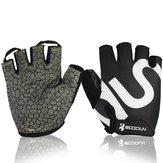 Unisex Fitness-fietshandschoenen Silica Gel Anti-slip Apparaat Halter Sporthandschoen