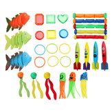 IPRee® Diving Toys Set Diving Training Toys Bague de plongée sous-marine Sticks Swim Fun Toys Kids Beach Swimming Pool Game Gift Lot