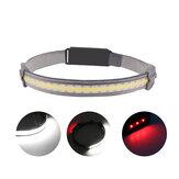 XANES® YD-33 COB + LED كشافات USB رأس قابل لإعادة الشحن ضوء شعلة لركوب الدراجات والجري والتخييم والصيد وإصلاح السيارات