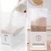Armazenamento de dispensador de cereais de plástico 15Kg Caixa Organizador de recipientes de grãos de arroz para alimentos de cozinha para recipientes de recipientes de latas de armazenamento de grãos de cozinha