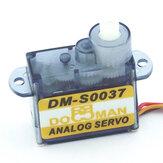 DORCRCMAN DM-S0037 0,65kg Torque 4,8-6V 3,7g Plástico Engrenagem Digital Micro Servo Compatível Futaba JR SANWA Hitec para avião RC