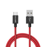 BlitzWolf® BW-TC1 3A USB Type-C Braided Charging Data Cable 3ft/0.9m With Magic Tape Strap