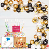 120 piezas DIY Retro Gold Globo Garland Arch Kit Chrome Gold Ballon para cumpleaños Baby Shower Bodas Decoración de fiesta