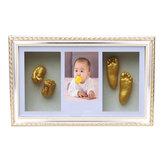 3D mão pé Casting recém-nascido pegada foto moldura