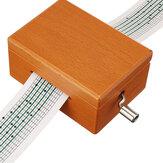 15 ملحوظة صندوق خشبي مكرنك يدويًا موسيقى لهدايا عيد الميلاد مع خرامة ثقب و 10 أشرطة ورقية