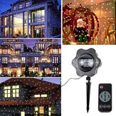 ARILUX® 4W LED Warm Wit / Wit Sneeuwval Projector Light Remote Roterende Sneeuwvlok Kerst Decor