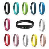 Bakeey Multi-Color Pure Sports T-Buckle Soft Silicone Watch Band Strap Replacement for Fitbit Flex2