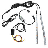2Pcs 20cm Flexible RGB 12-LED Demon Angel Eyes Lights Kit 5W 12V Phone APP Control for 2.5
