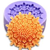 3D Mini Peony Fondant Khuôn Silicone Cake Chocolate Khuôn Bánh Trang trí Công cụ làm bánh