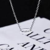 SHENLIN S925 Sterling Silber Halskette Einfache Halskette Schlüsselbein Kette Persönlichkeit Liebhaber Liebhaber Halskette