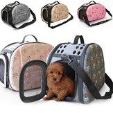 Portátil pequeno animal de estimação Cachorro gato frente e verso bolsa de viagem bolsa de ombro Bolsa gaiola casa